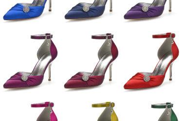 sandale moderne talon haut à bride ornée de strass